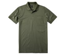 Herren Polo-Shirt Baumwoll-Piqué grau-