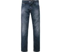 Herren Jeans Modern Fit Baumwolle indigo blau