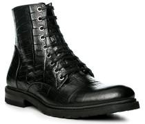 Herren Schuhe Stiefelette Leder schwarz