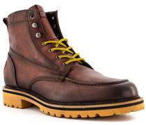 Schuhe Schnürboots Leder testa di moro