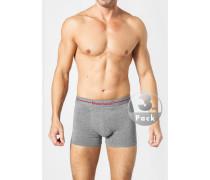 Herren Unterwäsche Trunks Baumwoll-Stretch meliert