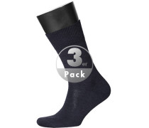 Herren  Socken Merinowolle dunkelblau
