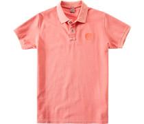 Herren Polo-Shirt Baumwoll-Piqué koralle orange