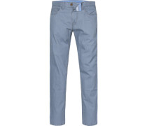 Herren Jeans, Straight Fit, Baumwoll-Stretch, blau