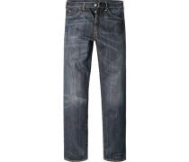 Herren Jeans Baumwolle dunkelblau
