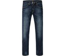 Herren Jeans Slim Fit Baumwoll-Stretch denim blau