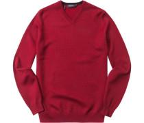 Herren Pullover Baumwoll-Mix rubin