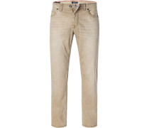 Jeans Modern Fit Baumwoll-Stretch camel