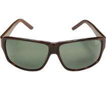Herren Brillen Sonnenbrille Kunststoff havanna-graugrün braun