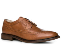 Herren Schuhe Budapester Rindleder cognac