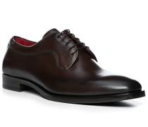 Schuhe Derby Leder caffe