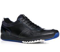 Herren Schuhe Sneaker Büffelleder-Mix schwarz schwarz,schwarz