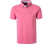 Polo-Shirt Slim Fit Baumwoll-Piqué rosé