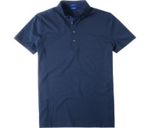 Herren Polo-Shirt Modern Fit Baumwoll-Jersey nachtblau