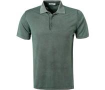 Polo-Shirt Baumwoll-Strick dunkel