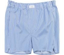 Herren Unterwäsche Boxershorts, Baumwolle, blau gestreift