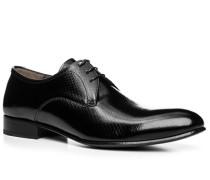 Herren Schuhe Derby, Lackleder, schwarz