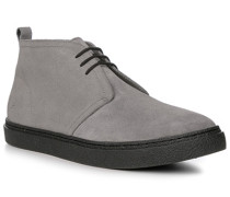 Herren Schuhe Desert-Boots Veloursleder grau