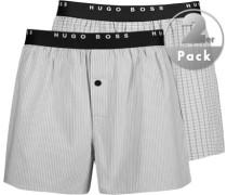 Herren Unterwäsche Boxershorts Baumwolle grau gemustert