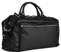 Herren Reisetasche Rindleder schwarz