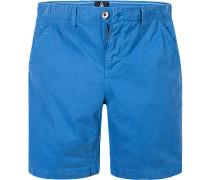 Herren Hose Shorts Regular Fit Baumwolle capriblau