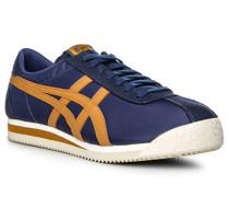 Herren Schuhe Sneaker Textil blau-braun