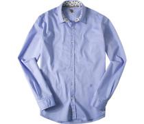 Herren Hemd Baumwolle himmelblau