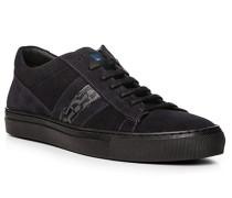 Herren Schuhe Sneaker, Veloursleder, navy blau