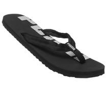 Herren Schuhe Zehensandalen, Textil, schwarz-weiß