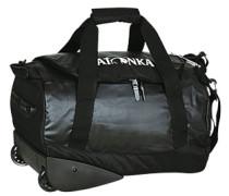 Herren Reisetasche mit Rollen Microfaser schwarz