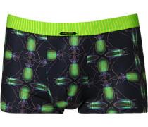 Herren Unterwäsche Trunk Microfaser dunkelgrau-neon