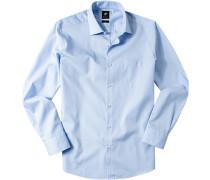Herren Hemd Baumwolle hellblau