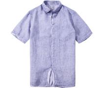 Herren Hemd, Modern Fit, Leinen, flieder lila