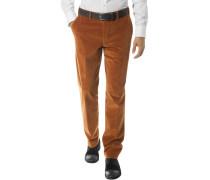 Herren Cordhose, Contemporary Fit, Baumwoll-Stretch, kupfer orange