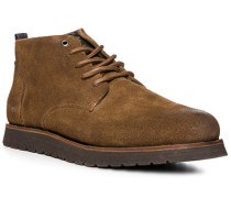 Herren Schuhe Desert Boots, Veloursleder, hellbraun