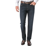 Herren Jeans Modern Fit Baumwoll-Stretch Superflex nachtblau