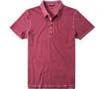 Herren Polo-Shirt Baumwoll-Jersey bordeaux rot