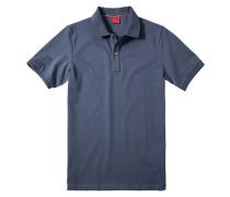 Herren Polo-Shirt Baumwoll-Piqué indigo