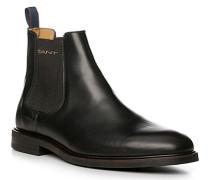 Herren Schuhe Chelsea-Boots Rindleder schwarz beige
