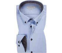 Hemd Modern Fit Baumwolle hell meliert