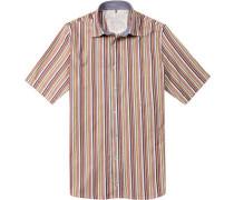 Herren Hemd Regular Cut Baumwolle gestreift