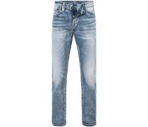Herren Jeans Slim Fit Baumwolle jeansblau
