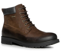 Herren Schuhe Schnürstiefeletten Nubukleder wasserabweisend braun braun,braun