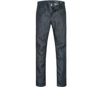 Herren Jeans Shaped Fit Baumwoll-Mix denim blau