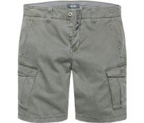 Herren Hose Cargo-Shorts Baumwoll-Stretch khaki