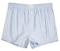 Herren Unterwäsche Boxer-Shorts Popeline bleu-weiß gestreift
