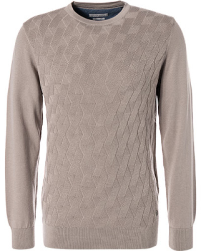 Pullover, Baumwolle, taupe