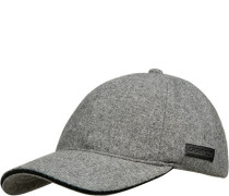 Herren Cap, Wolle, grau meliert