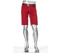 Herren Jeans Bermudas Pipe-K, Regular Slim Fit, Baumwolle, rot