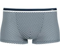 Herren Unterwäsche Trunk, Baumwolle, navy gemustert blau